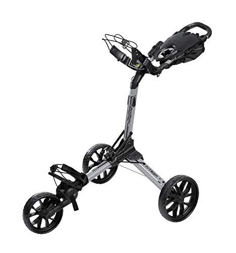BagBoy Nitron Golf Push Cart, Silver/Black