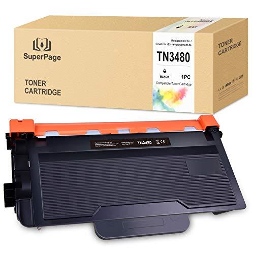 1 Superpage Kompatibel Brother TN-3480 TN3480 Toner für Brother HL-L5000D HL-L5100DN HL-L5200DW HL-L5200DWT HL-L6200DW HL-L6250DW HL-L6300DW HL-L6400DW HL-L6400DWT DCP-L5500DN MFC-L6800DW, Schwarz