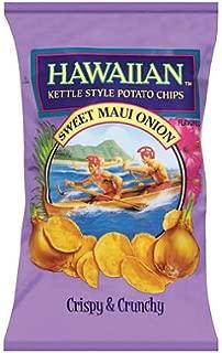 Hawaiian Kettle Sweet Maui Onion Potato Chips 16-ounce Bags (Pack of 2)