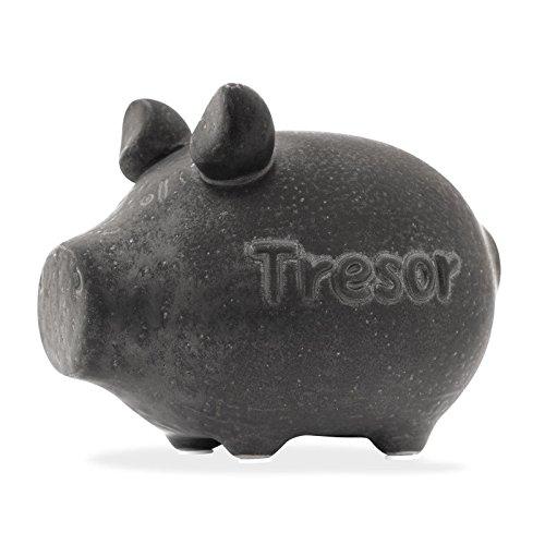 KCG Tresor Luxus Sparschwein Sparbüchse Spardose Grau