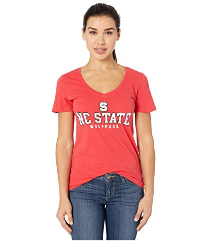 Champion College NC State Wolfpack University V-Neck Tee Scarlet 2 SM