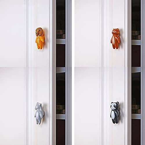 Maniglie Cassetti per La Camera dei Bambini, Carino Manopola di Animale Pomello in Ceramica, Maniglia per Cassetto Mobili, per Porta Dells'Armadio del Guardaroba (Color : Donkey, Size : X8)