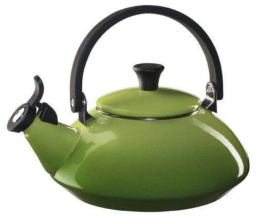 Le Creuset Enamel-on-Steel Zen Teakettle, 1-2/3-Quart, Palm