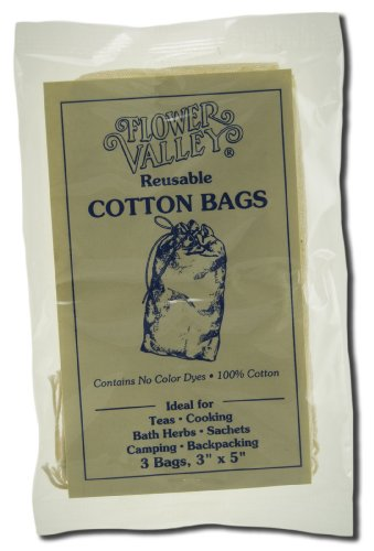 Flower Valley Reusable Cotton Teabags 3 bag