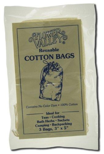 Flower Valley Reusable Cotton Teabags 3 bag