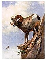 Diy 数字油絵 数字塗り絵 _ 羊ラム雌羊子羊縁起の良い動物 _ 大人の子供のためのギフト デジタル油絵 _ 数字キットでペイント ホーム オフィス装飾 _ 40X50Cm _ 【ギフト】木製フレーム