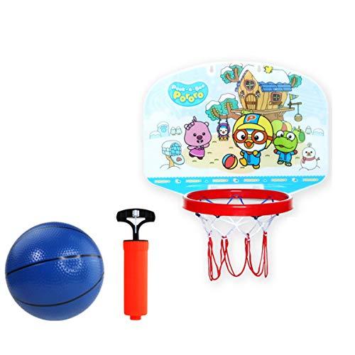 CHENGXI Soporte de baloncesto para niños con diez engranajes que se puede levantar y bajar, cesta de tiro interior se puede plegar para montar en la pared soporte de bola deportiva (color: C)