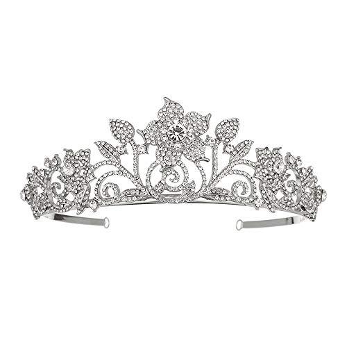 HoGau Bruiloft Verjaardag Tiara Elegante Kostuum Fotografie Bruiloft Accessoires Strass Koningin Bruids Kroon, IJskoon Vorm