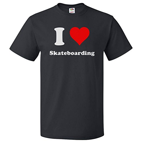 ShirtScope I Love Skateboarding T shirt I Heart Skateboarding Tee 4XL