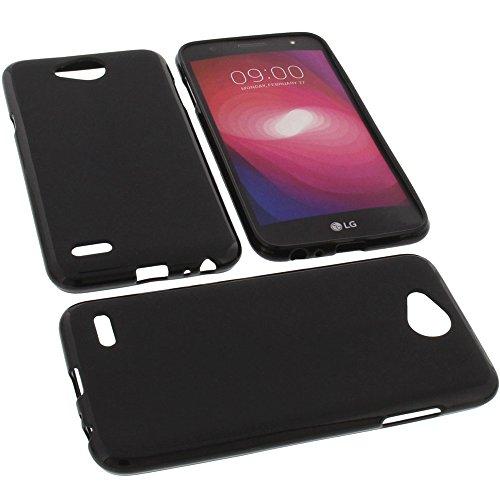 foto-kontor Tasche für LG X Power2 Gummi TPU Schutz Handytasche schwarz