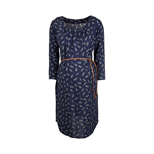 2HEARTS Umstands-Kleid Cosy & Wild/gemustertes Schwangerschaftskleid mit Bindegürtel/Black iris All Over Print