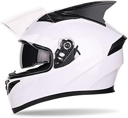 MOTUO Casco de Moto Casco Integral Casco con Doble Visera Casco de Rodillo para Mujeres Hombres