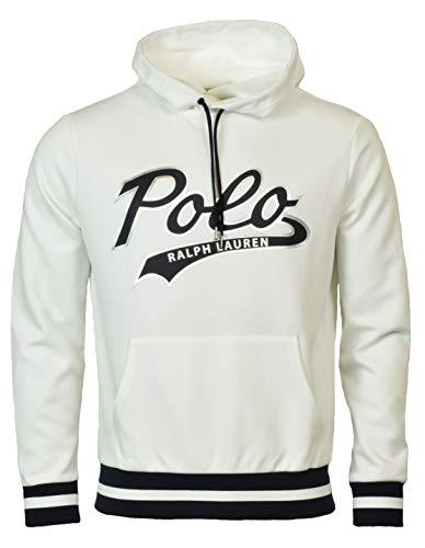Polo Ralph Lauren Men's Double-Knit Graphic Logo Hoodie - L - White