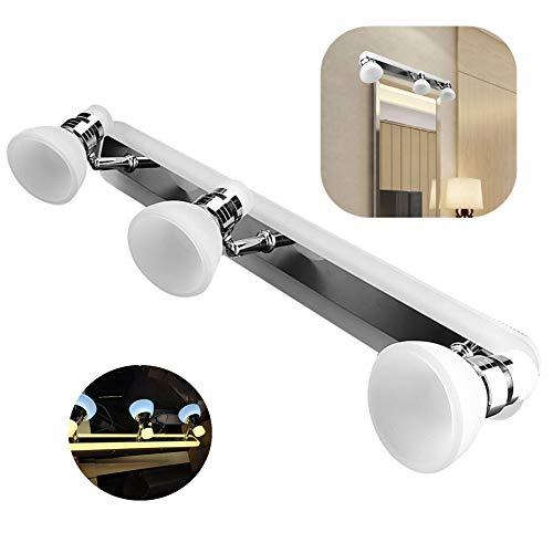 LED-wandlamp, 3-kops LED-spiegellamp Kaptafel Make-upmuur Dual Color Light voor slaapkamer Badkamer Toilet Hotel Restaurant Kantoorgebouw Decoratie AC180-260V