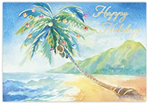 Seleccione de las marcas más nuevas como Hawaiian Deluxe Christmas Boxed Boxed Boxed Cards Holiday on the beach by Welcome to the Islands  autorización oficial