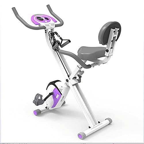 LLKK Bicicleta estática controlada magnéticamente, bicicleta giratoria ultra silenciosa, bicicleta de interior plegable, equipo de fitness deportivo