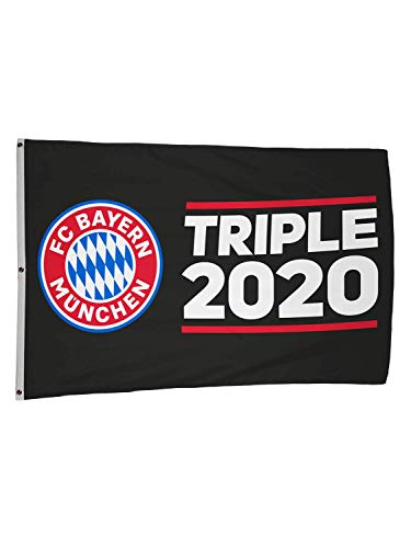 FC Bayern München Hissfahne Triple 2020 180x120 cm