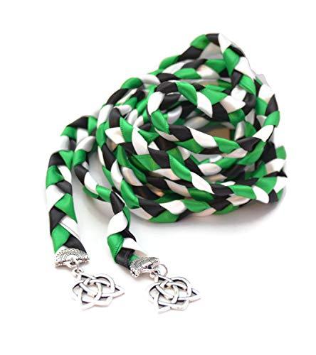 Divinity Braid Emerald Silver Celtic Heart Knot Wedding V4 Handfasting 6ft Cord #Wedding #WeddingCeremony #DivinityBraid #Celtic #Handfasting #HandfastingCord #CelticWedding #CelticKnot #DreamWedding