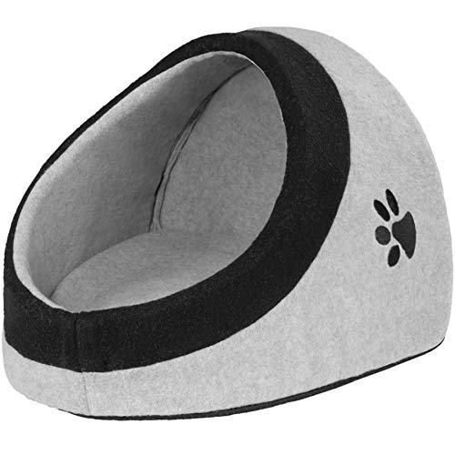 TecTake 800638 gemütliches Tierbett für Katzen, kleine Hunde oder andere kleinere Tiere, mit abnehmbarem Kissen, Unterseite mit Antirutsch-Beschichtung | Diverse Größen (Größe M | Nr. 402924)
