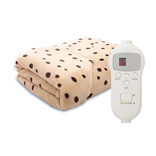 Mantas eléctricas Liang Fast Felpa climatizada Manta Lanza con 5 Niveles de Calefacción y Apagado automático/Ther Mostat Manta/con función de Calentamiento rápido con la máquina Lavable