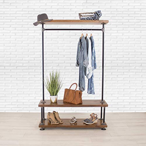 Industrial Cedar / Pipe Clothing Rack