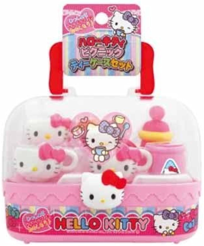 40% de descuento Hello Kitty Picnic Tea Set - - - Full Set Complete with Cocherying Case by Hello Kitty  tienda de venta