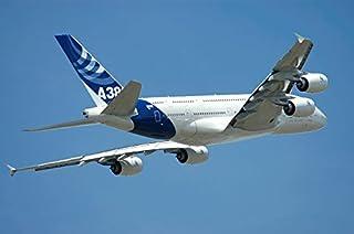 نموذج إيرباس A380 في الطيران فوق باريس في عرض لو بورج اير شو طباعة ملصق بواسطة ريكاردو نيكولي ستوكتريك إيماتوغرافيا (17 × 11)