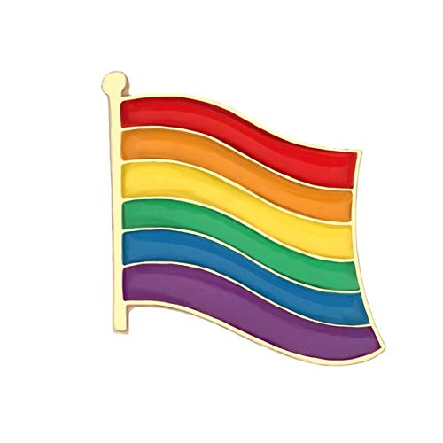 Broche de corazón con diseño de bandera de arco iris para la paz y el amor, esmalte de la bolsa de la ropa, pin de solapa y el orgullo de la insignia unisex