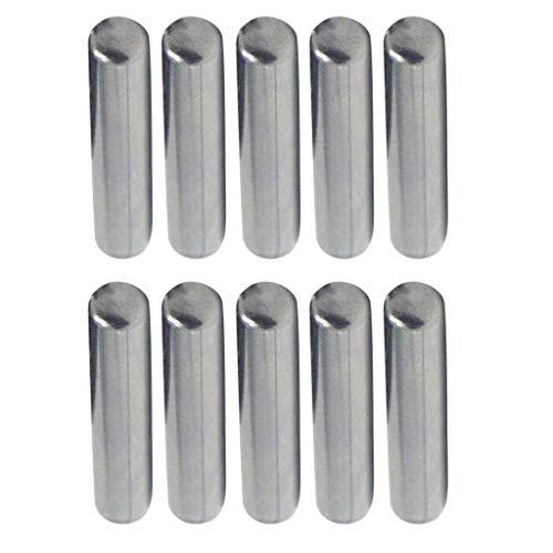 HomeDecTime 10 Stk. 5mm Zylinderstifte gehärtet Passtifte, Korrosionsbeständig - 15 mm