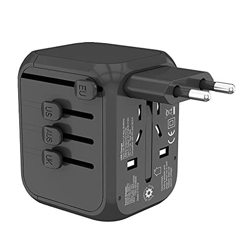 ZXZS Adaptador De Viaje Global 2 Puertos USB 1 PD Flash Cargar International Conversión Universal Socket Fusible De Seguridad Adecuado para Teléfonos Móviles, Laptops