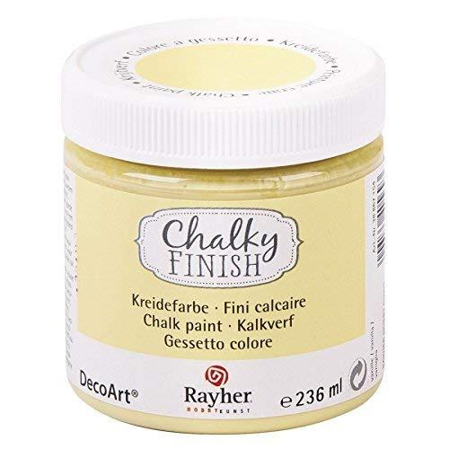 RAYHER HOBBY 38868154 Chalky Finish auf Wasser-Basis, Kreide-Farbe für Shabby-Chic-, Vintage- und Landhaus-Stil-Looks, 236 ml, vanille