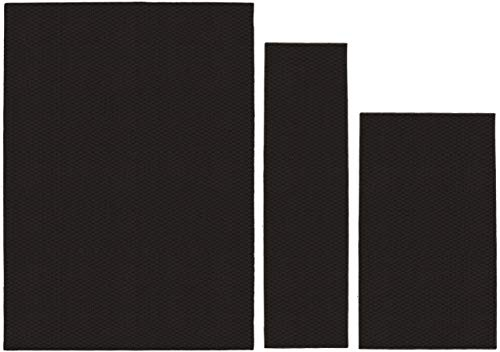 Garland Rug Town Square Area Rug Set, 3-Piece (5 x 7 Inches, 3 x 4 Inches, 24 x 60 Inches), Mocha