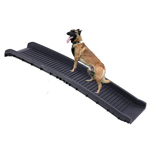 HyiFMY Rampas de Coches de Perro, rampas de Mascotas portátil Plegables Plegables con Superficie Antideslizante, para Camas Altas, Camiones, automóviles y SUV