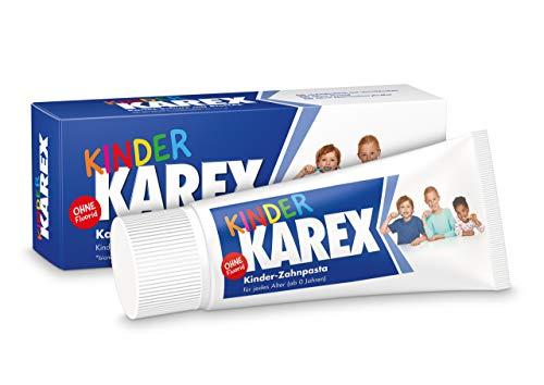 Kinder KAREX Zahnpasta – Kariesschutz für Kinder von 0 bis 12 Jahren – mit BioHAP, ohne Fluorid – ab dem ersten Milchzahn – 2 x 50 ml