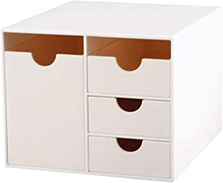 Dust-Proof Makeup Organizer, Cosmetic and Jewelry Storage with Dustproof Lid, Display Boxes with Drawers for Vanity, Skin
