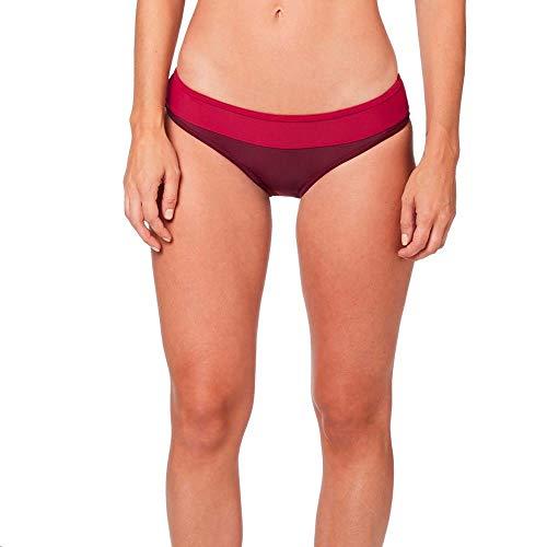 Fox Racing Damen Triton LACE UP Swim Bottom Bikinihose, Anthrazit/Graphit/Rot, Large