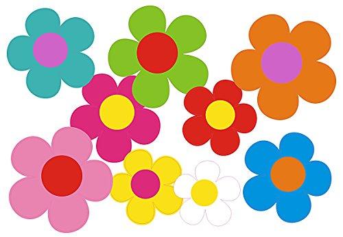 Autocollant pour voiture, Design?: Mini 09 Set de 5?25 pièces ? Mélange multicolore de fleurs.