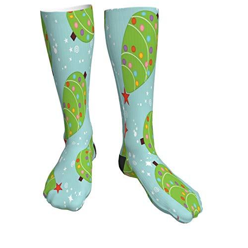 Christmas Tree Warm Thick Knee High Knit Socks 50cm