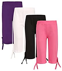 SINIMINI Girls Casual Capri(Pack of 4)