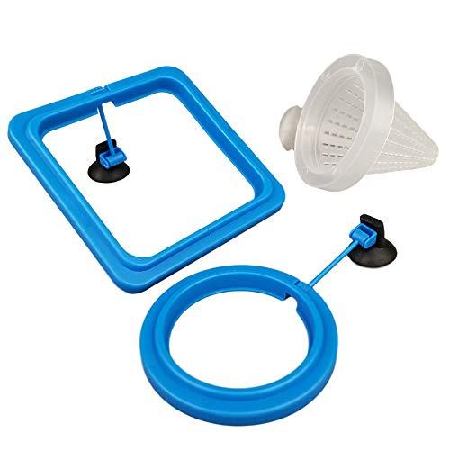 Bluecoco 3 Pieces Fish Feeding Ring + Worm Feeding Cup