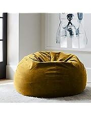 Regal In House relaxing bean bag  velvet Large - Camel