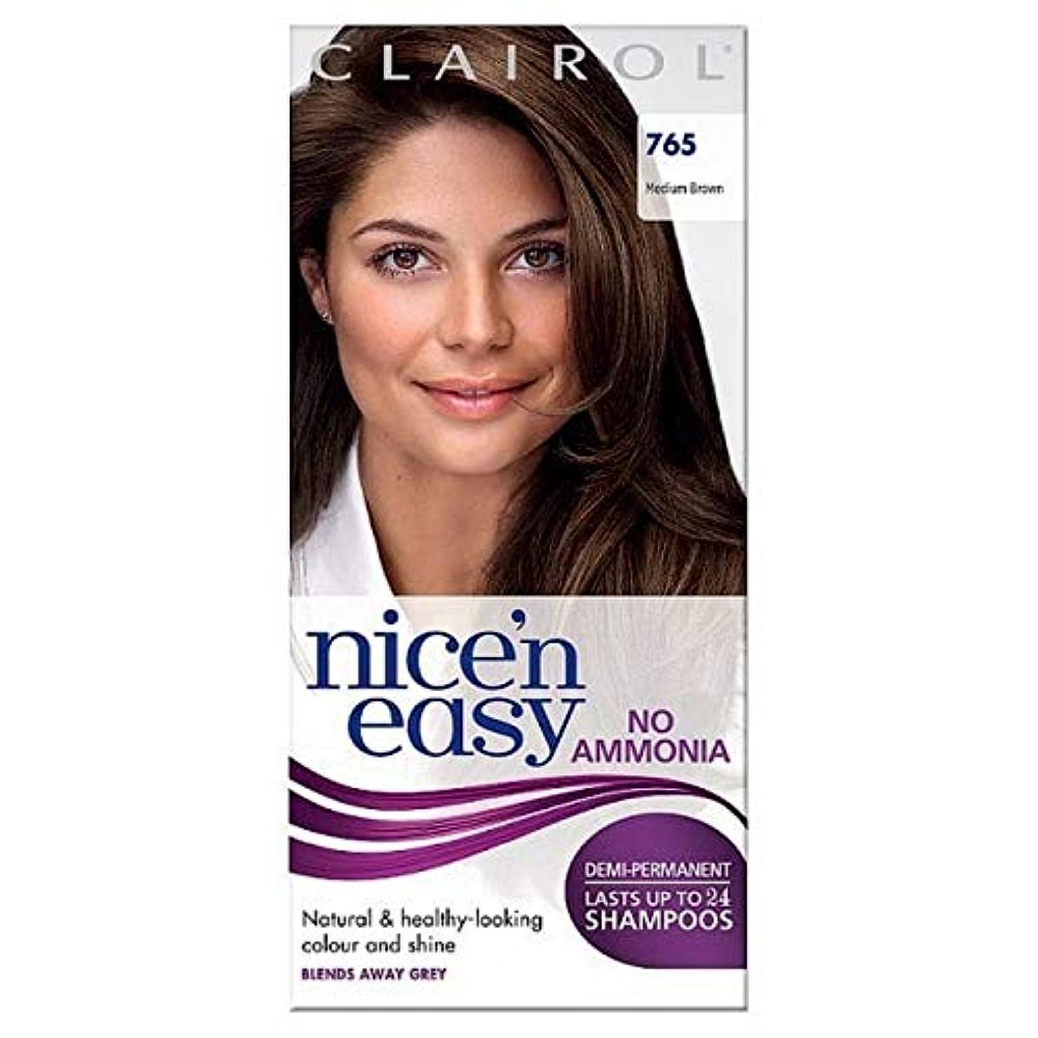 脱走形成ブラインド[Nice'n Easy] Nice'N簡単に何のアンモニアの染毛剤ませんミディアムブラウン765 - Nice'n Easy No Ammonia Hair Dye Medium Brown 765 [並行輸入品]