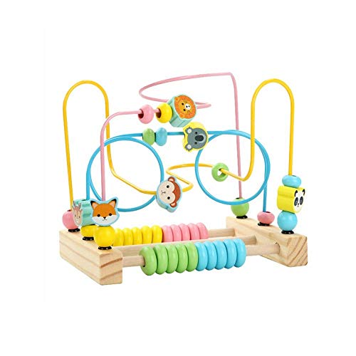 Cxjff Alrededor de Bolas Laberinto de Inteligencia Juguete, niños bebé Presente Ejercicio Entrenamiento del Cerebro coordinación Mano-Ojo de la montaña Rusa Laberinto mágico Juego