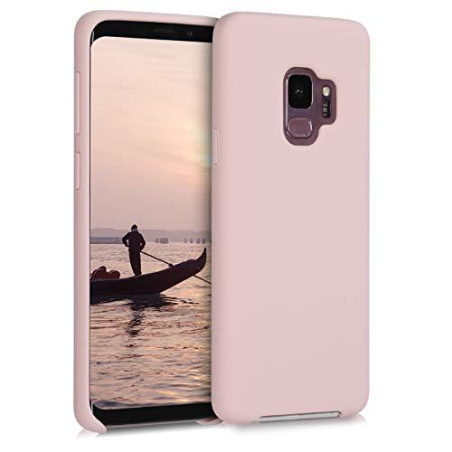 kwmobile Hülle kompatibel mit Samsung Galaxy S9 - Hülle Handyhülle gummiert - Handy Case in Hellrosa matt