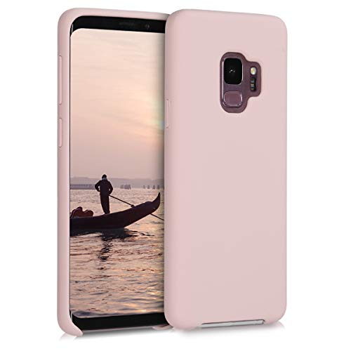 kwmobile Funda Compatible con Samsung Galaxy S9 - Carcasa de TPU para móvil - Cover Trasero en Rosa Pastel Mate