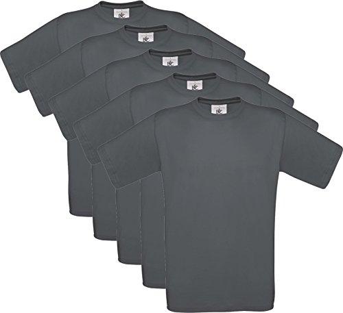5er PACK T-Shirt mit kurzem Ärmel, Rundhalsbund. T-Shirt aus 100{4eb2a8cd9cde24fa3881ebad07416f695fdac52931f95360bf60e889e4bc0da5} ringgesponnener Baumwolle