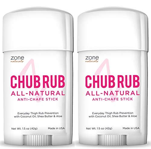 Zone Naturals Chub Rub All Natural Anti Chafing Stick, 1.5 Ounce