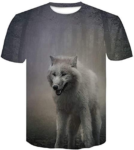 Autumn Animal Jersey 3D Printing Regardless of Unisex T-Shirt Short Shirt,D293,Asian Size M
