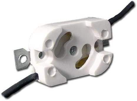 HH Fluorescent LH0450 125-7 Starter Base Lamp Holder With Two Hole Bra