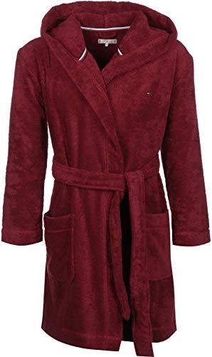 Tommy Hilfiger Hoody Robe Bata de baño, Rojo (Red 629), Small (Talla del Fabricante: SM) para Mujer
